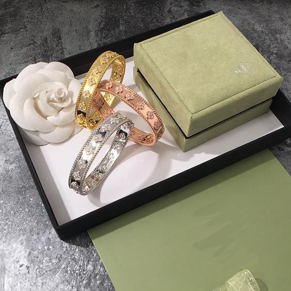 Moda nefis dört yapraklı yonca altın zangle taş bileklik kadınlar için Severler Günü hediyesi kadınlar için klasik tasarımcı marka takı
