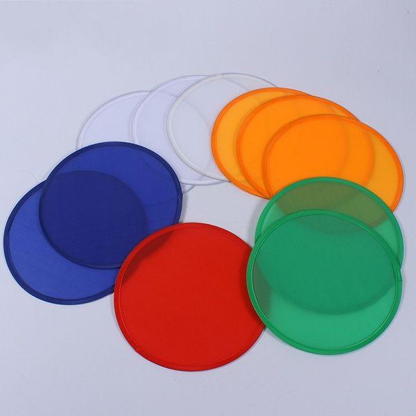 Pliant Frisbee Pliable Soucoupe Volante Enfants Jouets Tissu Polyester Sports de Plein Air Nylon Couleurs Mix Drôle 1hy F1