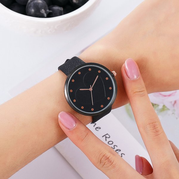 embossed flowers watches for women leather girls creative quartz clock ladies couple bracelet wrist watch leather belt watch