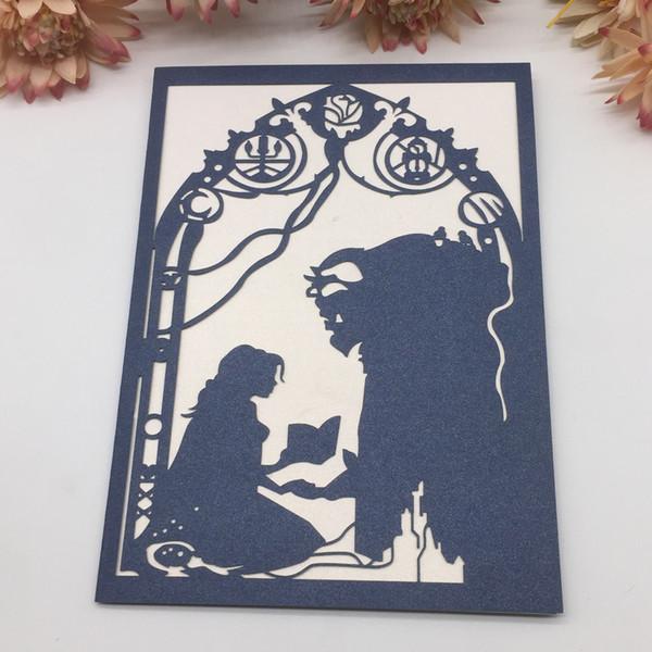 Beauty And Beast Theme Birthday Wedding Invitation Card European ...
