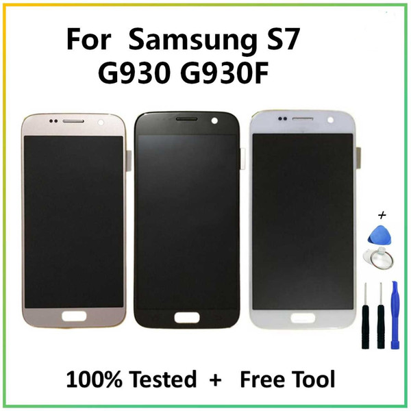 2019 quente para Samsung Galaxy S7 G930 TFT LCD Touch Screen LCD Assembléia digitador para Samsung Galaxy S7 G930 G930F G9300 SM-G930F