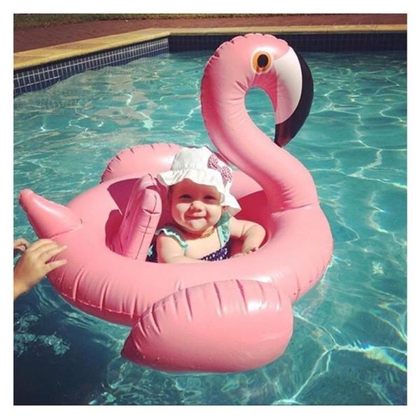 Flamingo neonato bambino anello di nuoto anello ascellare 1-6 anni neonato ragazza doppia pallone posto all'ingrosso