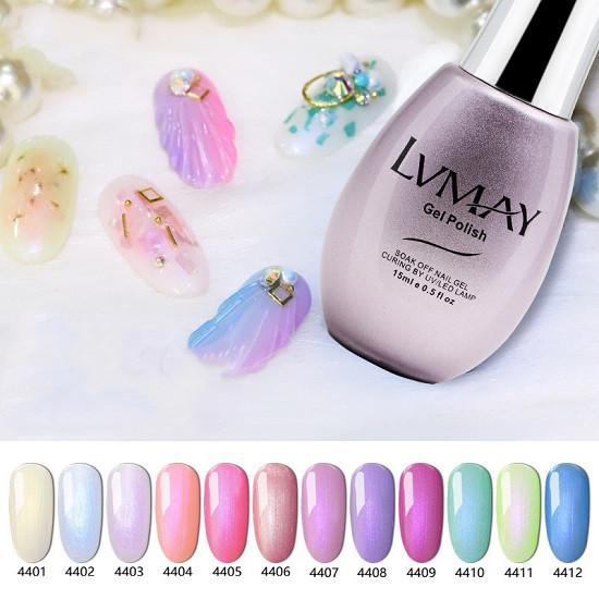 Gel per unghie di alta qualità Soak Off Pearl 15ml Nail Beauty 12 colori Gel per unghie a lunga durata