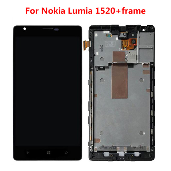 Nokia Lumia 1520 LCD Display with Touch Screen Digitizer LCD Replacement with Frame and Without Frame