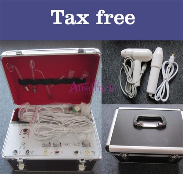 EU tax free Pro 5in1 Multifunction High Frequency / Galvanic / Facial Brush / Vacuum Spray Beauty Machine