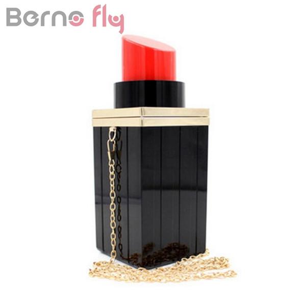 Berno fly Lipstick Women Clutches Bag Fashion Women Handbag Female Tote Luxury Bag Party Evening Messenger Bags #88850