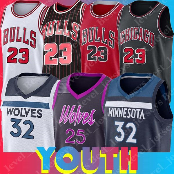 best sneakers 43371 34c07 2019 Chicago Minnesota Youth Bulls Timberwolves Jerseys 23 Michael Derrick  Jersey Rose Karl Anthony Jerseys Towns Home Away Kid Youth From ...