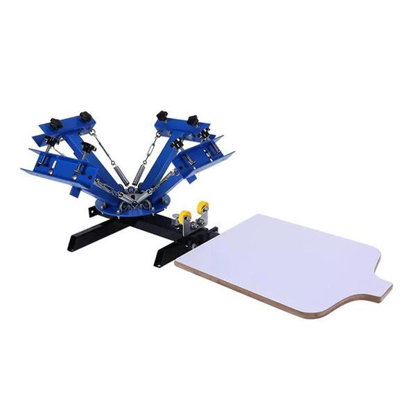 Machine d'impression sérigraphique 4 stations 1 couleur