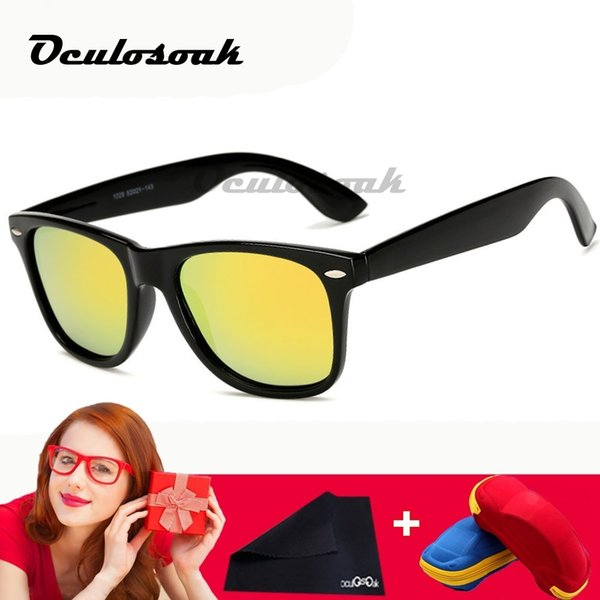 Yellow Night Vision Sunglasses Men Square Mirror Sun Glasse With Brand Luxury Eyewears Uv400 Goggles Male With Box