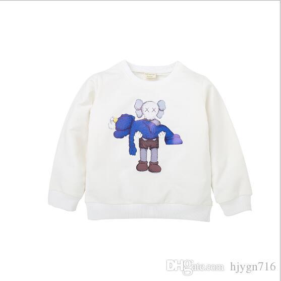 Nuevas sudaderas con capucha para bebés de 2-7 años de edad, niños y niñas con capucha camisa Tops Moda infantil con capucha Ropa