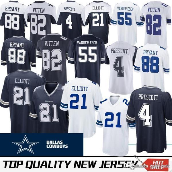 f90a4016f 19 Amari Cooper Dallas 4 Dak Prescott Jersey Cowboys Mens 21 Ezekiel  Elliott 82 Jason Witte