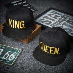 Berretto da baseball King Queen Lettera Hip Hop 6 Stili Berretti da baseball ricamati Accessori per berretti Coppia IIA261