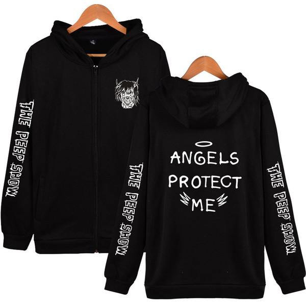 Erkek tasarımcı lüks hoodie Lil Peep Fermuar Hoodies Erkek Kadın Uzun Kollu Tişörtü Hip Hop Harajuku Rahat Streetwear kazak