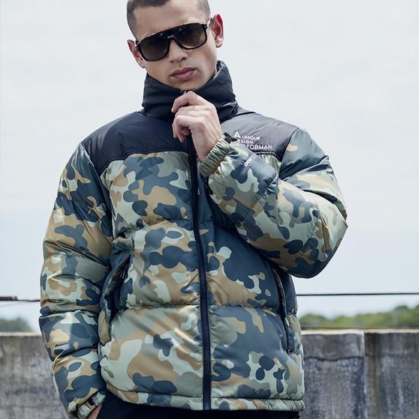 Winter Jacket Men Thicken Warm Camouflage Coat Hooded Long Sleeve Warm Jacket Jaqueta Masculina