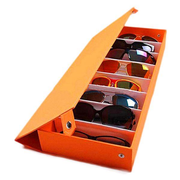 8 Grid Sunglass Glasses Storage Case Eyeglasses Display Glasswear Box Tidy Tool Drop Shipping C19041201