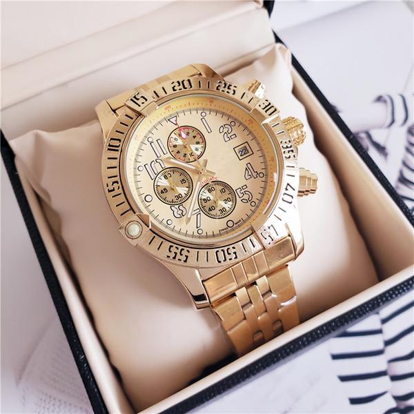 Reloj de pulsera para hombre de la nueva marca Reloj de pulsera para hombre con función completa de cronógrafo de acero inoxidable Todos los relojes de cuarzo 1884 de trabajo SUB