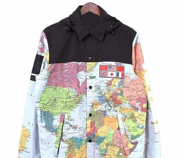 Luxury Jacket Mens Clothing Men Women Map Printed Winter Jacket Mens Designer Jacket Mens Designer Winter Coats Size M-XXL16