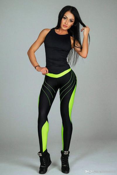 Бесплатная доставка 2018 весной и летом горячие взрывы женские брюки секси признакам брюки йоги смешанные цвета напечатаны Sweatpants ZC2694