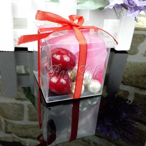 50Pieces/lot Clear Square Wedding Favor Gift Box Transparent Party Candy Bags Wholesales