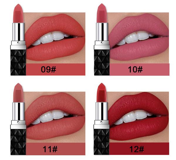 HANDAIYAN Marca Professional Lips Maquiagem À Prova D 'Água Shimmer Longa Duração Pigmento Nudez Rosa Sereia Shimmer Batom Maquiagem De Luxo Cosméticos