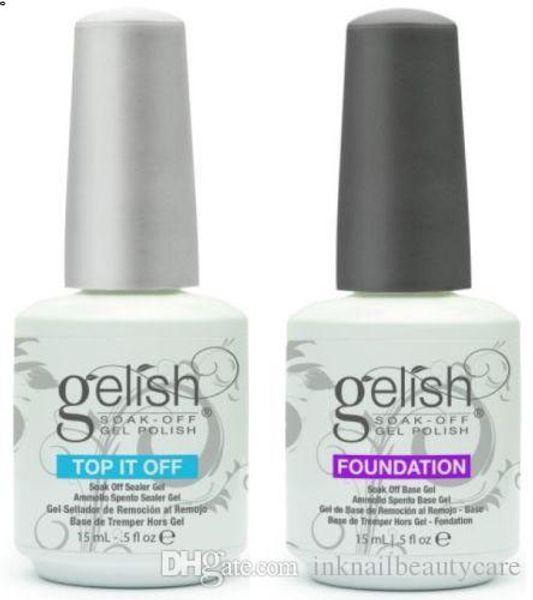 best selling Top Quality Soak Off Nail Gel Polish For Nail Art Gel Lacquer Led uv Harmony Gelish Base Coat Foundation & Top coat