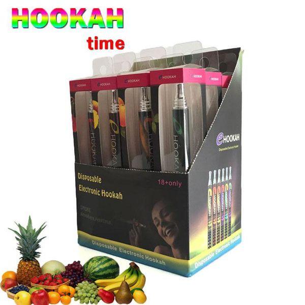 2019 Disposable electronic cigarette vape pen E hookah Portable shisha time 800 puffs metal tip E-shisha pen ECIG vaporizer vape cartridges