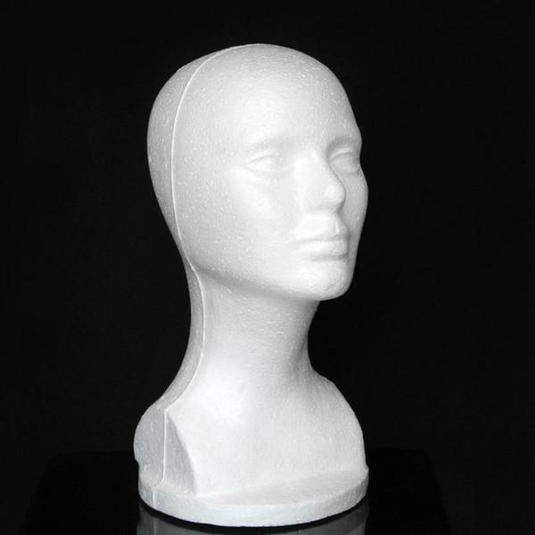Modelo femenino Cabeza de espuma de poliestireno Sombrero Gafas Peluca de pelo Pantalla Maniquí Soporte Cabeza de exhibición Modelo Pecho Levert Dropship 3MAR30