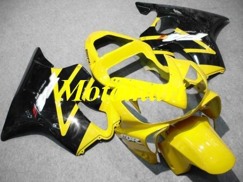 Injection mold Fairing kit for HONDA CBR600F4I 01 02 03 CBR 600 F4I 2001 2002 2003 ABS Yellow black Fairings set+gifts HJ04