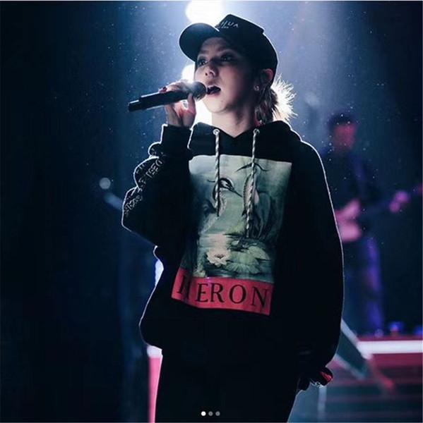 Кран для печати Толстовки Мужчины Женщины Hip Hop Цапли Престон Толстовки Свитеры Streetwear Black Цапли Престон Толстовки 2018 года