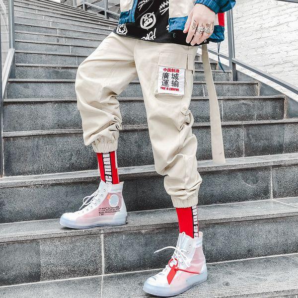 Mens Frauen Herbst Kanji Hosen Hip Hop Jogger Jogginghose Hose Männliche Streetwear C190416