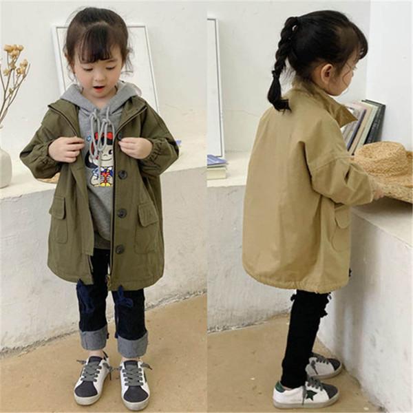 girls coat kids trench coats kids designer clothes girls trench coat long children outwear girls fall boutique clothing A7420
