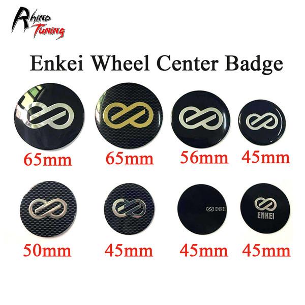 Rhino Tuning 4pcs 56mm Enkei Emblem Car Wheel Centro Badge Alluminio Adesivo Auto Styling Rim Coprimozzo Coperchio Accessori 543
