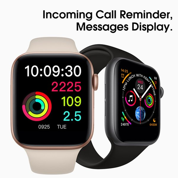 New Magnetic Adsorption Wireless Charging Goophones Watch 4 Smart Watch 44mm Bluetooth 4.0 Wearable Smartwatch for iPhone X Goophone iwatch