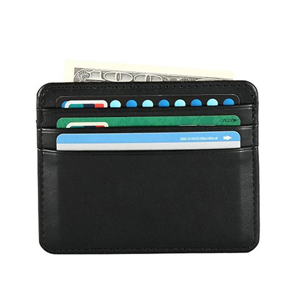 Sheepskin Ultra-thin Mini Card Holder Package Soft Leather And Lighter Small Change Purse Leather Creative Easy Id Card Holders