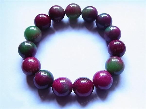Pure Natural Genuine A Goods Rot Grün Schatz Armband Männer und Frauen Liebhaber Beliebte Jade String Schmuck Geschenk