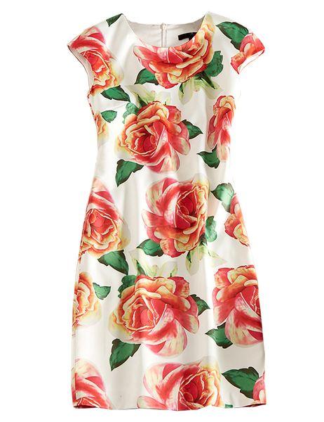 Женское платье с цветочным принтом с короткими рукавами и длинными рукавами, повседневные платья 04K894