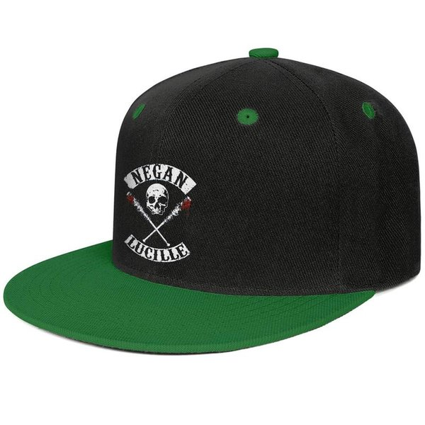 Walking Dead mens and women flat brim hats Green snapback cool kids hats plain make your own fashion Design your own baseball personalized