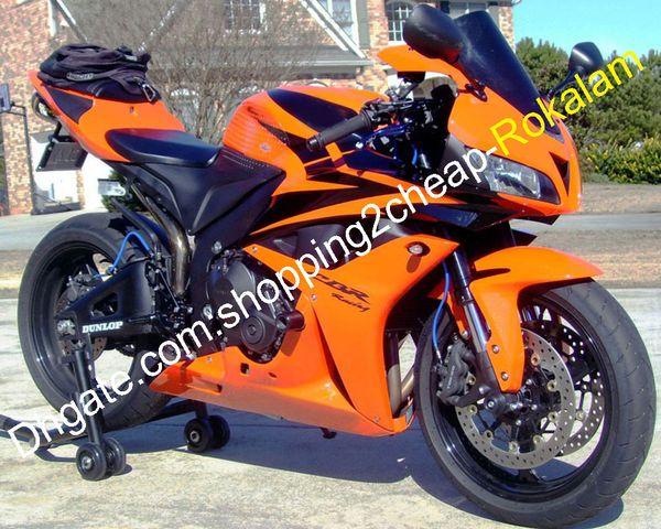 Fit motocicleta para Honda CBR600 ABS Fairing CBR600RR 600RR F5 07 08 CBR600RR 2007 2008 Laranja corpo Carroçaria Kit carenagens (Injecção)