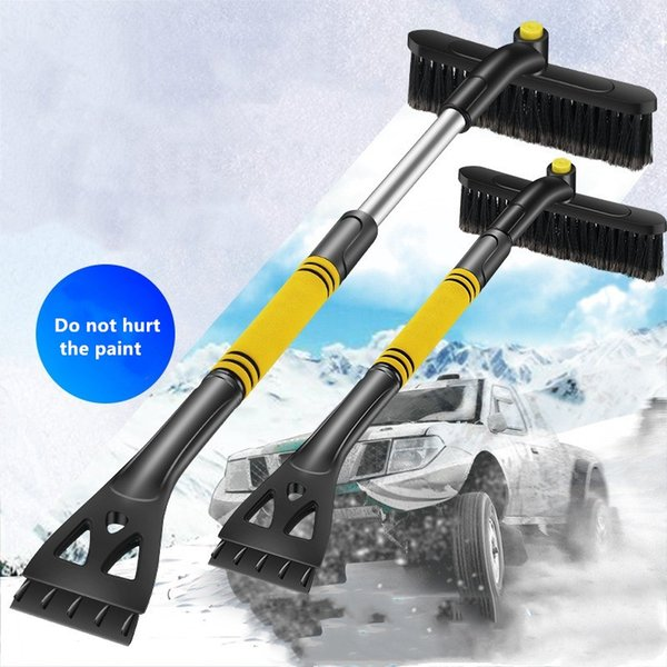 best selling car snow removal Multifunctional three-in-one shovel Ice Scraper brush snow scraper glass defroster winter deicing tool supplies