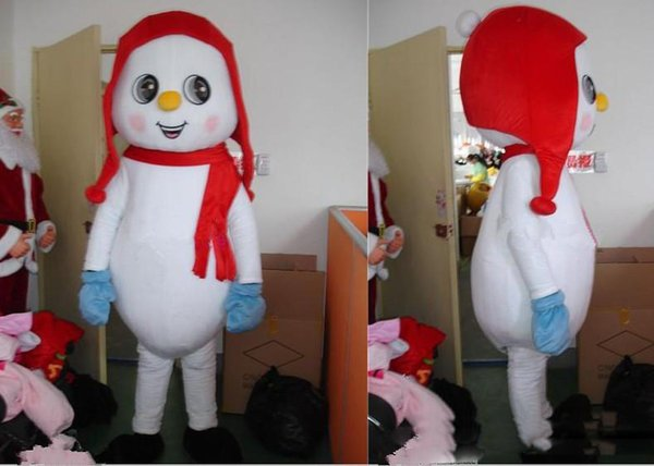2019 Factory direct sale Hand-made Snowman Mascot Costume Fancy Party Dress Xmas and Halloween Supply Adult Size