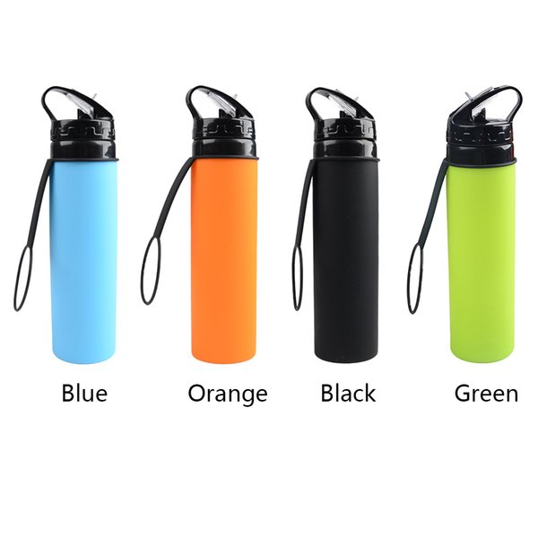 Saving Space Bottle Collapsible Water Bag Kettle Large Capacity Outdoor Sports Silicone Cup Portable Leak Proof Riding Travel