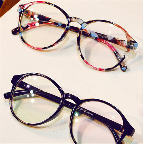 2019 Women Men Retro Round Lenti trasparenti Occhiali montatura in plastica Occhiale da vista Occhiali da vista Occhiali da vista Armacao De Oculo