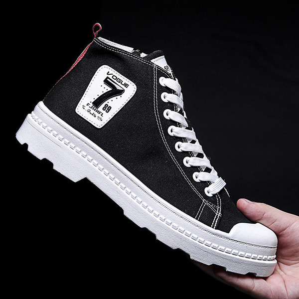Autumn Winter Men Canvas Boots Army Combat Style Fashion High-top Military Ankle Boots Men's Shoes Comfortable Sneakers erf56