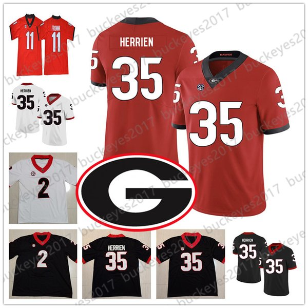 quality design fff66 1fbc2 2019 2019 Georgia Bulldogs UGA Football Jersey #35 Brian Herrien 9 Jeremiah  Holloman 4 James Cook III 87 Tyler Simmons 2 Richard LeCounte III From ...