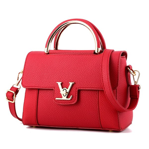 2018 Hot Flap V Women's Luxury Leather Clutch Bag Ladies Handbags Brand Women Messenger Bags Sac A Main Femme Famous Tote Bagc97 SH190812