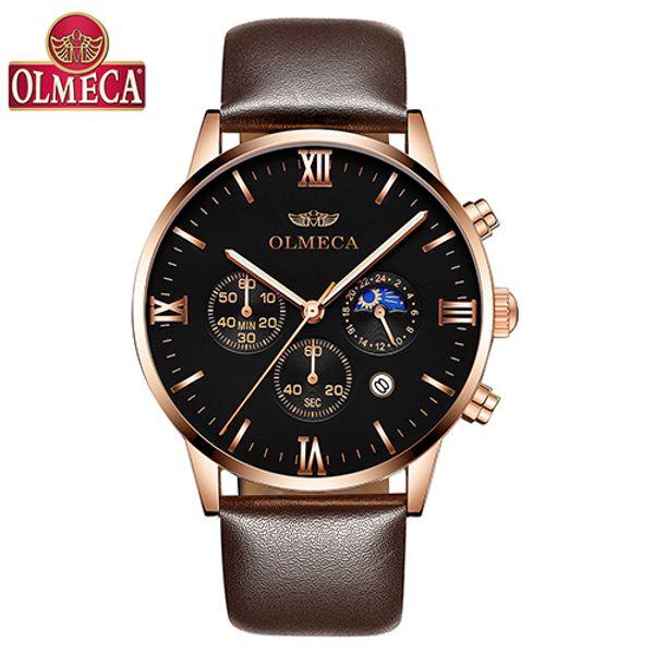 Men's Watches OLMECA Fashion Brand Quartz Watch Waterproof Watches Casual Male Clock Chronograph Wrist Watch Relogio Masculino