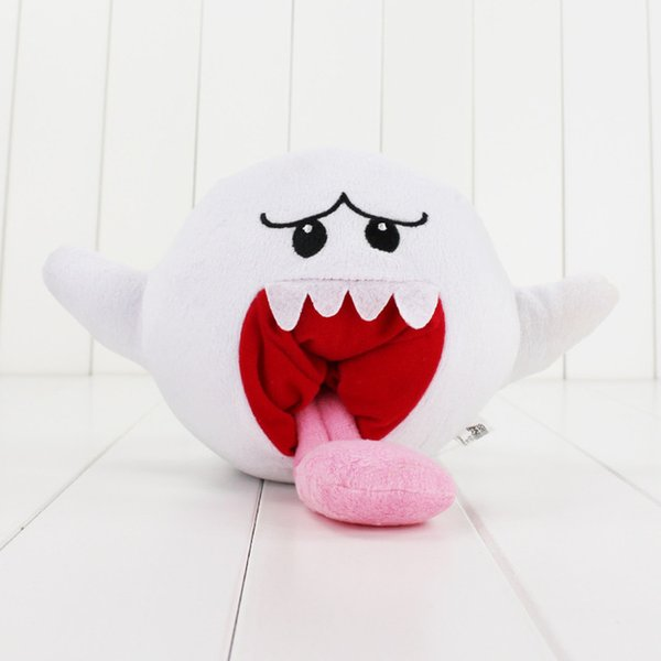 12CM Super Mario Plush Toys Doll White Super Mario Bros Boo Ghost Soft Stuffed Dolls Plush Toys For Kids