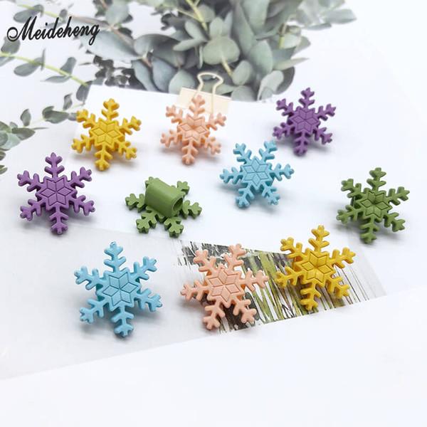 Perle acrilico fiocco di neve per monili che fanno Rope Big Hole Copricapo perla bambini ornamento dei capelli fai da te accessori perline Materiali