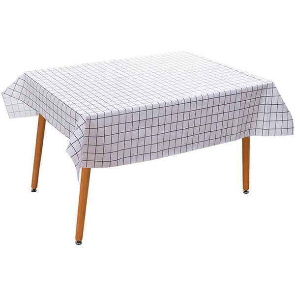 Creative Simple Nordic Style Grid Pattern Table Cloth Rectangular Waterproof Oil-Proof Checkered Tablecloth Table Cover For Home