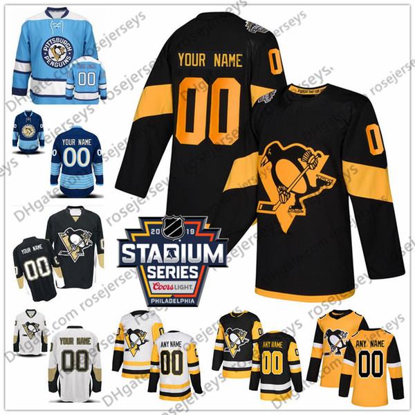 half off a5e81 a9c93 2019 Pittsburgh Penguins #3 Olli Maatta 4 Justin Schultz 7 Matt Cullen 8  Brian Dumoulin 12 Dominik Simon White Yellow 2019 Black Third Jersey From  ...
